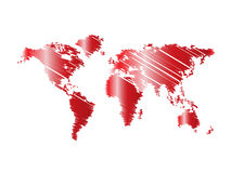 Red map world Royalty Free Stock Images