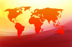 Red map of the world Stock Photo