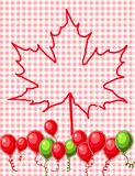Red maple leaf vector Stock Images