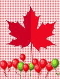 Red maple leaf vector Stock Image