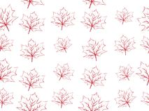 Red maple leaf vector seamless pattern for wallpaper, background, cover, greeting card, fabric textile Stock Images