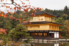The goldern pavilion, Kinkakuji temple in Kyoto, Japan Royalty Free Stock Photography