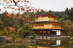 Kinkakuji temple, the goldern pavilion, Kyoto, Japan Royalty Free Stock Photography
