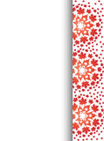 Red maple pattern letterhead background  Stock Photo