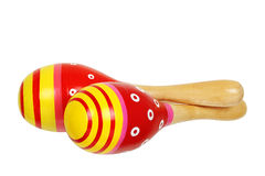 Red maracas Stock Photos
