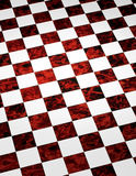 Red Marble Checkered Background. A red and white marble floor checkered pattern background Stock Photos