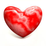 Red marble heart Stock Photo