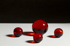 Red Marbles Stock Photography