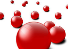Red Marbles. An image of randomly scattered marbles illustration Royalty Free Stock Photo