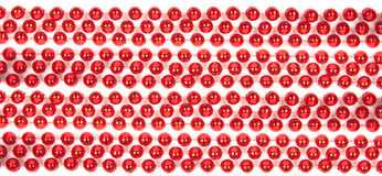 Red Mardi Beads Stock Images