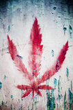 Red marihuana sign Royalty Free Stock Image