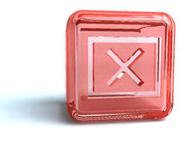 Red x mark. A red x mark isolated on white stock illustration