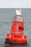 Red Marker Bouy at Sea Stock Image