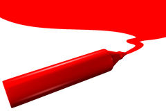 Red marker drawing Royalty Free Stock Photos