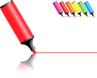 Red marker drawing line Stock Images