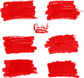 Red marker vector stains Stock Photo