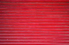 Red market metal door abstract background Royalty Free Stock Photography