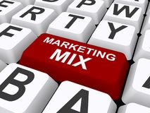 Marketing mix heading stock illustration
