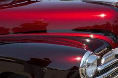 Red & Maroon Custom Car Royalty Free Stock Image