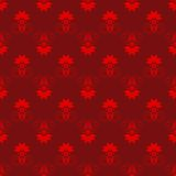 Red and Maroon Damask Seamless Pattern. Damask seamless pattern with red design over maroon background Stock Photography