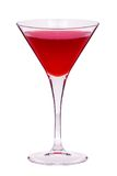 Red martini cocktail Stock Image