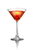Red martini cocktail isolated on white Stock Images