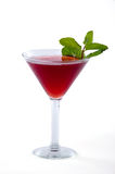 Red Martini Cocktail with mint garnish Royalty Free Stock Image