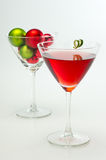 Red Martini Holiday Cocktail Royalty Free Stock Photo