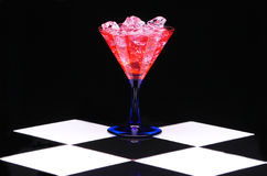Red Martini with Ice Stock Image