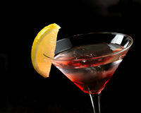 Red martini on the ice Royalty Free Stock Photography