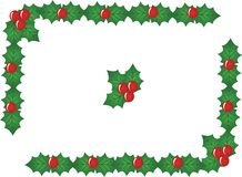 Red x-mas berry border,vector. Elements Royalty Free Stock Photos