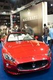 Red Maserati GranCabrio Stock Photos