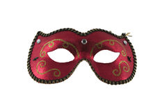 Red Mask. Isolated red mask on white background Royalty Free Stock Photo