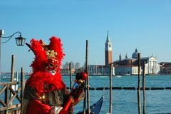 Red Mask At Carnival Of Venice 2011 Royalty Free Stock Photo