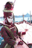 Red mask at the Carnival of Venice Stock Photos
