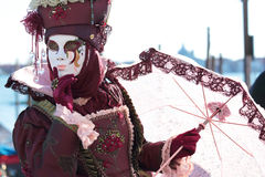 Red mask at the Carnival of Venice Royalty Free Stock Image