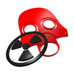 Red mask Stock Images