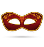 Red mask with golden braid Royalty Free Stock Images