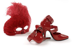 Red Mask & Shoes Royalty Free Stock Images
