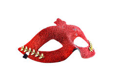Red mask on white background Royalty Free Stock Photography