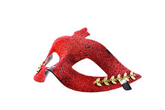 Red mask on white background Royalty Free Stock Photos