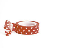 Red Masking Tape with Hearts Stock Photos