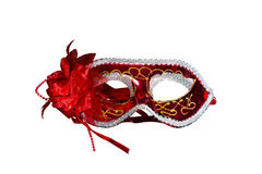 Red masquerade mask Stock Image