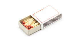Red match in matchbox Royalty Free Stock Image