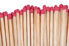 Red match on a white Royalty Free Stock Photo