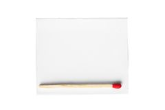 Red match on white box Royalty Free Stock Images
