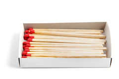 Red matches. Stock Photography