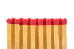 Red matches in a row Royalty Free Stock Photo
