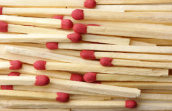 Red matchsticks background Royalty Free Stock Photography