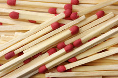 Red matchsticks background Stock Image